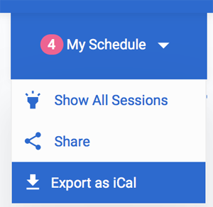 Export My Schedule as iCal