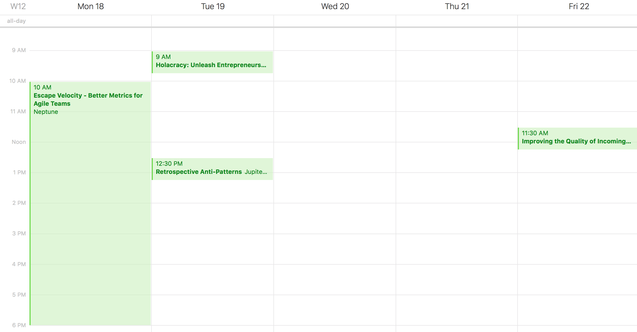 My Schedule imported in a Calendar